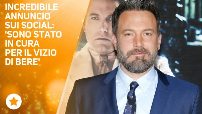 Ben Affleck shock: 'Guarito dalla dipendenza da alcol'